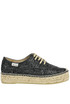 Glittered fabric lace-up espadrillas Espadrilles