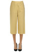 Linen-blend cropped trousers Fabiana Filippi