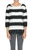 Feathers insert striped pullover Patrizia Pepe