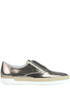 Metallic effect crakle leather slip-on shoes Tod's