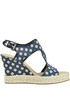 Printed fabric wedge sandals Ki6?