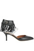 C-Rockee fringed leather pumps Valentino
