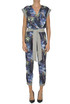 Printed silk jumpsuit Pin-up stars