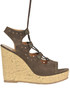Suede wedge sandals Apepazza