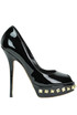 Peep-toe patent-leather pumps Sebastian