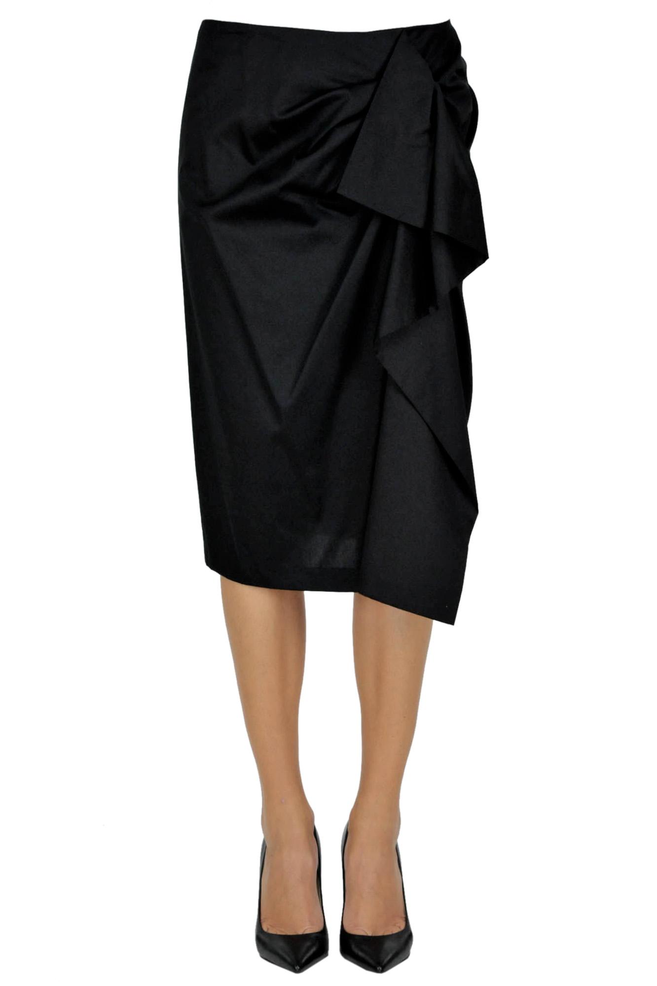 Image of Gonna a tubino con drappeggio