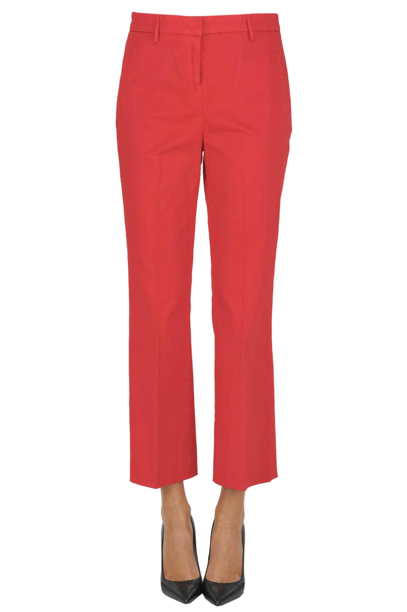 Image of Pantaloni alla caviglia in cotone
